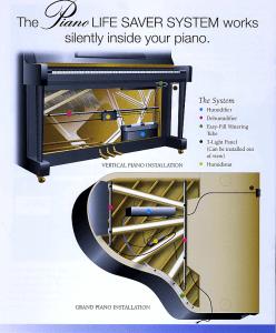 Dampp-chaser piano / vleugel