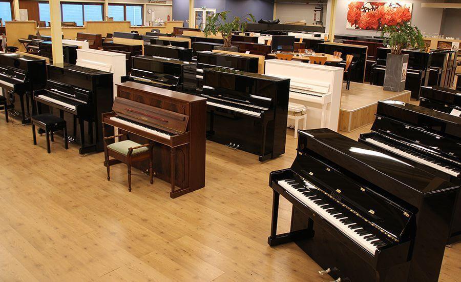 Showroom-pianos